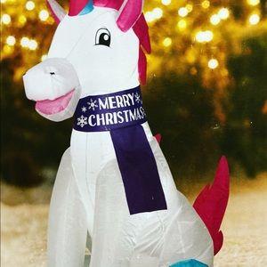 3.5 Ft Tall Unicorn Christmas Inflatable
